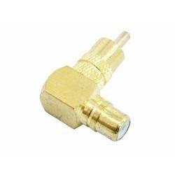 RCA plug/RCA socket 90 angle