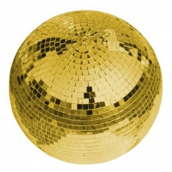 Mirror ball 30cm gold