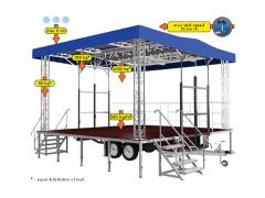 Standard small mobile stage 5m x 6m x 5,1m