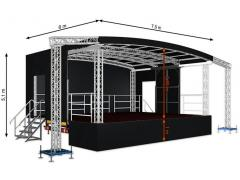 Profiled middle mobile stage 7,5m x 6m x 5,1m