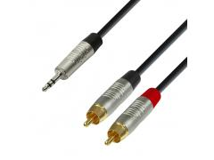 REAN 3.5 mm Jack stereo to 2 x RCA male 1.5 m (K4YWCC0150)