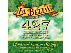 LA Bella 427 Clear Nylon Silver Plated Classical Guitar Strings
