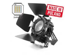 FLASH PROFESSIONAL  LED PAR 64 250W 2in1 COB WHITE 2200-5200K SHORT + BARNDOOR mk2