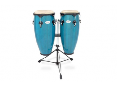 TOCA CONGA SYNERGY SERIES Bahama Blue with Double braced conga-double stand