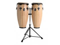 TOCA CONGA SYNERGY SERIES Natural with Double braced conga-double stand