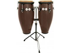 TOCA CONGA SYNERGY SERIES Tobacco with Double braced conga-double stand