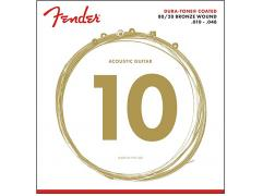 Fender 80/20 DURA-TONE COATED ACOUSTIC GUITAR STRINGS (010-048)
