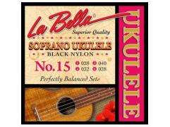 La Bella Acoustic Folk string set soprano ukulele L-15