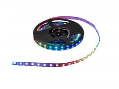 Digital LED pixel strip with RGB LEDs for indoor use