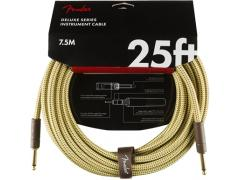 FENDER DELUXE SERIES INSTRUMENT CABLE, TWEED 7.5M (STR/STR)
