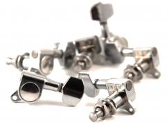 Supreme Machine Head Set ST-Style Chrome AS-016P-L Clamshell ST-Style